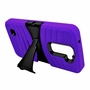 LG K7 / Tribute 5 Hybrid Silicone Case Cover Stand Purple