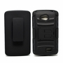 LG Tribute LF60 Armor Belt Clip Holster Case Cover Black