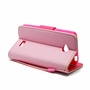LG Tribute LS660 Leather Wallet Pouch Case Cover Pink