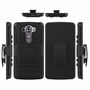 LG V10 Armor Belt Clip Holster Case Cover Black