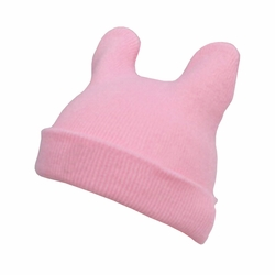 Lovely Baby Unisex-Baby Infant Knitted Hat Devil Horns Hat Woolen Hat Pink