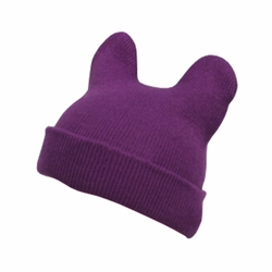 Lovely Baby Unisex-Baby Infant Knitted Hat Devil Horns Hat Woolen Hat Purple