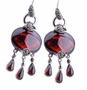 Lovely Earrings Made of Natural Red Garnet Gemstone & High Quality Thai Silver Jewelry