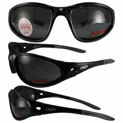 Mad Dog Black Frame with Smoke Lenses
