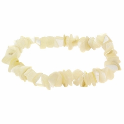 Mother of Pearl Chip Stretch Bracelet