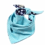 Neat Solutions Baby Burp Cloths Infant Triangle Double Layers Bib TEAL Set of 2