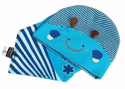 Newborn Infant Children Hat Cotton Hat Set Head Cap Free Size Blue