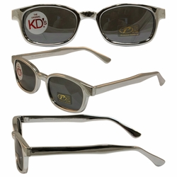 Original KD's Biker Sunglasses Chrome Frame with Silver Mirrored Lenses