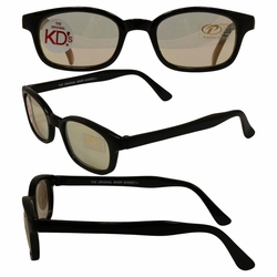 Original KD's Biker Sunglasses with Clear Colored Mirror Lenses