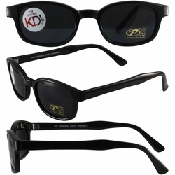 Original KD's Biker Sunglasses with Dark Grey Lenses