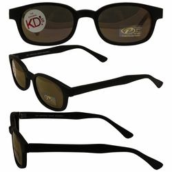 Original KD's Biker Sunglasses with Gold Mirror Lenses