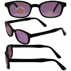 Original KD's Biker Sunglasses with Purple Lenses