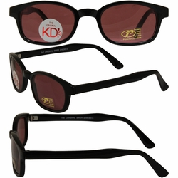 Original KD's Biker Sunglasses with Rose Colored Lenses