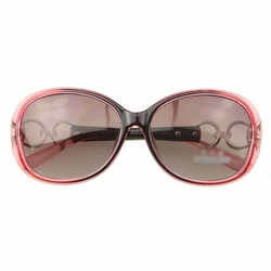 Outdoor Activities-use Red Oval Frame Fashion Sunglasses Sun Protection Eyewear