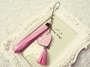 Phone Strape Love Tassel PU Leather Camera Hand Rope Pink