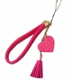 Phone Strape Love Tassel PU Leather Camera Hand Rope Rose Red