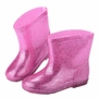 PINK Bling Cute Baby Rainy Day Infant Rain Shoes Toddler Rain Boot 18.5 CM