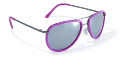 Pink Rimmed Aviator Style Sunglasses by Swag