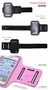 [PINK] SPORTY Armband+ Key Holder for iPhone 5/5S/5C/4 inches Smart Phone