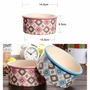 Porcelain Bone Pets Bowls Dogs Cats Bowls Pet Supplies Cat Accessories - Pink