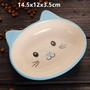 Porcelain Cat Face Pets Bowls Dogs Cats Bowls Pet Supplies Cat Accessories-Blue