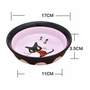 Porcelain Kittens Pets Bowls Dogs Cats Bowls Pet Supplies Cat Accessories-Black