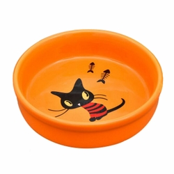 Porcelain Kittens Pets Bowls Dogs Cats Bowls Pet Supplies Cat Accessories-Orange