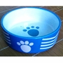 Porcelain Pets Puppy Food Water Bowls Dogs Bowls Cats Pet Supplies - Blue