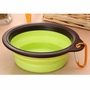 Portable Pets Bowls Dogs Bowls Cats Bowls Pet Supplies Dog Accessories- Green