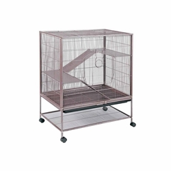 Prevue Hendryx Small Animal Rat and Chinchilla Cage With Hammer Tone Finish And Roll Caster