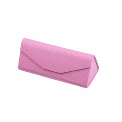 Retro Collapsible Myopia Glasses Boxes Sunglasses/Eyeglasses Case Pink