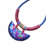 Retro Embroidery Needlecrafts Handmade Embroidery, Necklace(Blue)