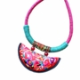 Retro Embroidery Needlecrafts Handmade Embroidery, Necklace(Red)