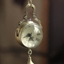 Retro Vintage Bronze Quartz Ball Glass Pocket Watch Necklace Chain Steampunk