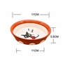 Safe Stoneware Raised Food Bowls For Cat/ Feeding Supplies Bowls(Orange)