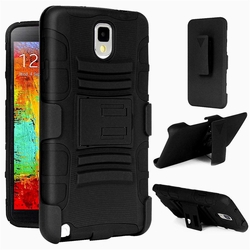Samsung Galaxy Note 3 Armor Belt Clip Holster Case Cover Black