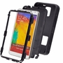 Samsung Galaxy Note 3 Impact Silicone Case Dual Layer with Stand Black Black