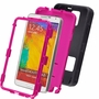 Samsung Galaxy Note 3 Impact Silicone Case Dual Layer with Stand Black Pink