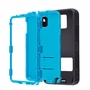 Samsung Galaxy Note 3 Impact Silicone Case Dual Layer with Stand Black Teal