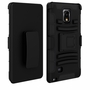 Samsung Galaxy Note 4 Armor Belt Clip Holster Case Cover Black