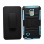Samsung Galaxy Note 4 Armor Belt Clip Holster Case Cover Blue