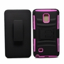 Samsung Galaxy Note 4 Armor Belt Clip Holster Case Cover Pink