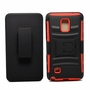 Samsung Galaxy Note 4 Armor Belt Clip Holster Case Cover Red