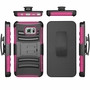 Samsung Galaxy Note 5 Armor Belt Clip Holster Case Cover Pink