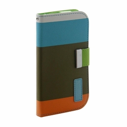 Samsung Galaxy S3 Hybrid Wallet Leather Case Flip Cover Teal