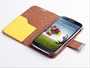 Samsung Galaxy S4 Hybrid Wallet Leather Case Flip Cover Yellow