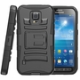 Samsung Galaxy S5 Active Armor Belt Clip Holster Case Cover Black
