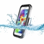 Samsung Galaxy S5/S4/S3 Full Body Sealed Waterproof Snowproof Shockproof Dirtproof Case Black