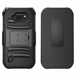 Samsung Galaxy S6 Ative Armor Belt Clip Holster Case Cover Black