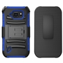 Samsung Galaxy S6 Ative Armor Belt Clip Holster Case Cover Blue